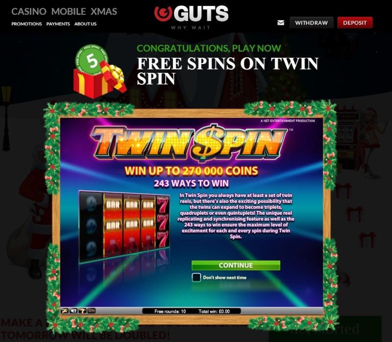 Guts Casino Christmas Calendar - 11th December 2013 Guts_c19
