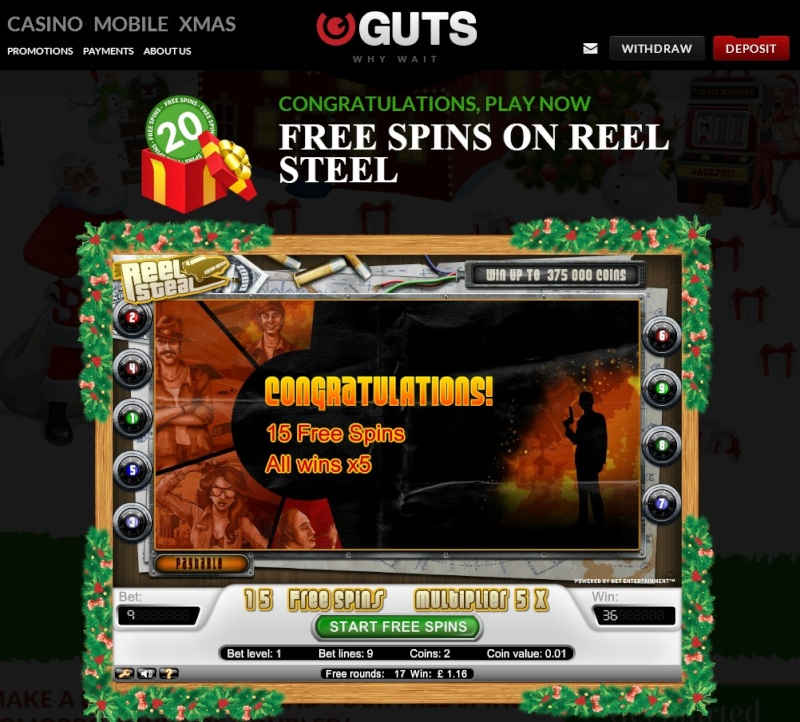 Guts Casino Christmas Calendar - 14th December 2013 Guts_c22