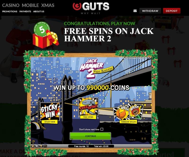 Guts Casino Christmas Calendar - 15th December 2013 Guts_c23