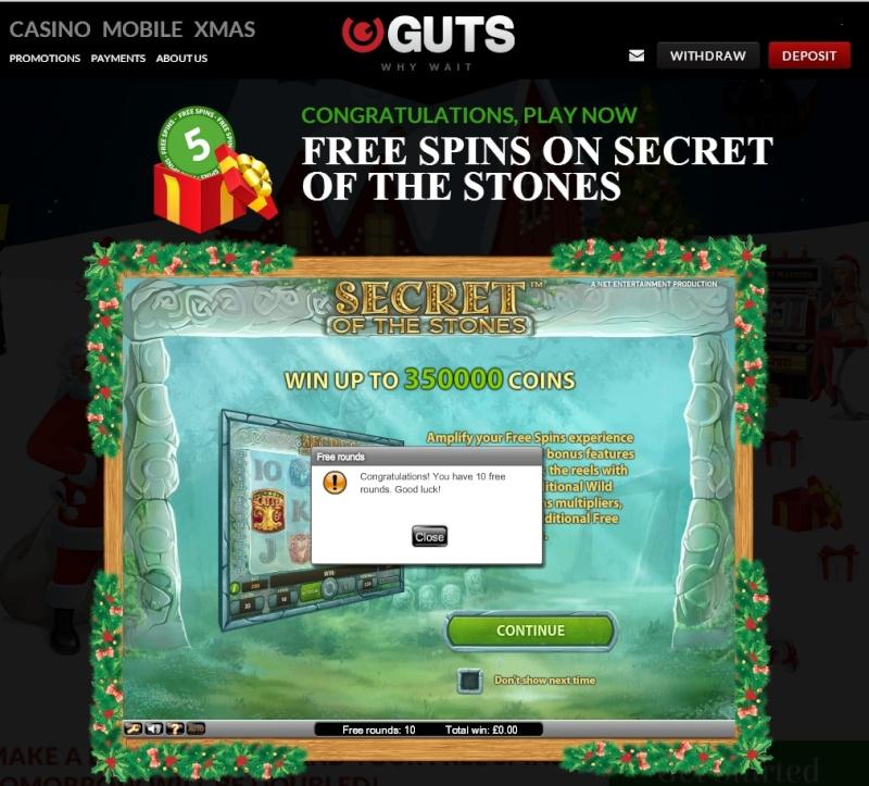 Guts Casino Christmas Calendar - 17th December 2013 Guts_c25