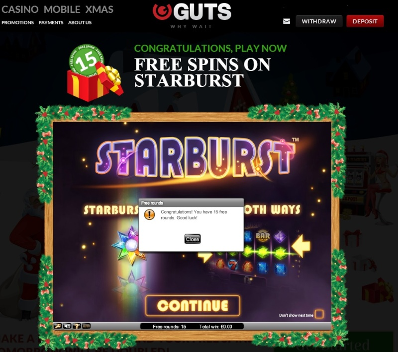 Guts Casino Christmas Calendar - 18th December 2013 Guts_c26