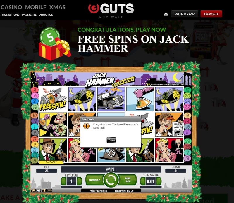 Guts Casino Christmas Calendar - 20th December 2013 Guts_c27