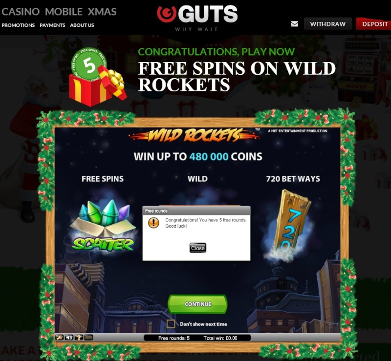 Guts Casino Christmas Calendar - 23rd December 2013 Guts_c30