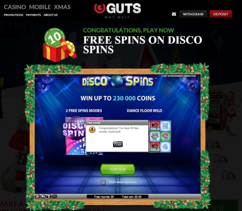 Guts Casino Christmas Calendar - 24th December 2013 Guts_c31