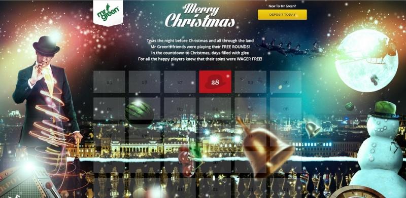 MrGreen Casino Christmas Calendar 2013 - 30 Days Of Christmas Overview Mrgree10