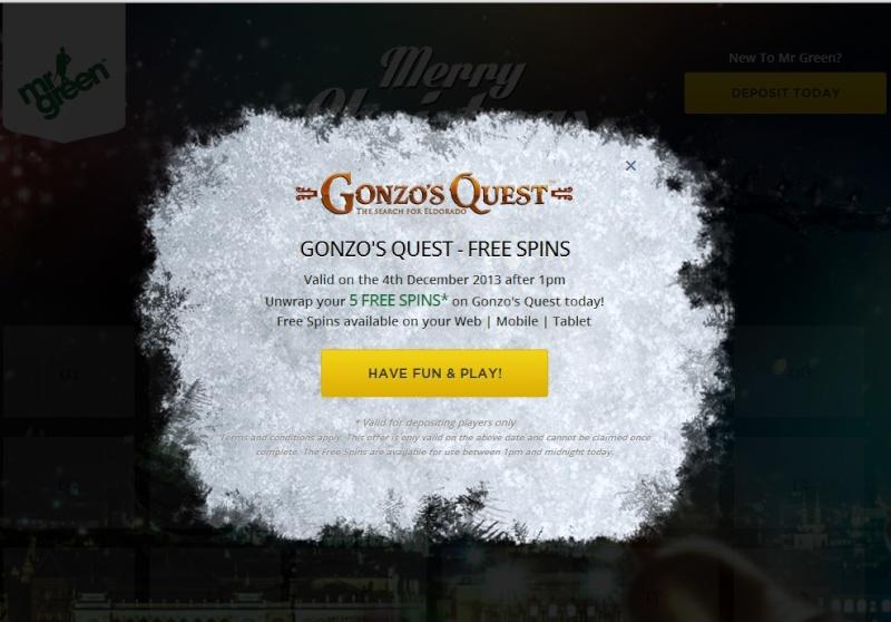 MrGreen Casino Christmas Calendar - 4th December 2013 Mrgree12