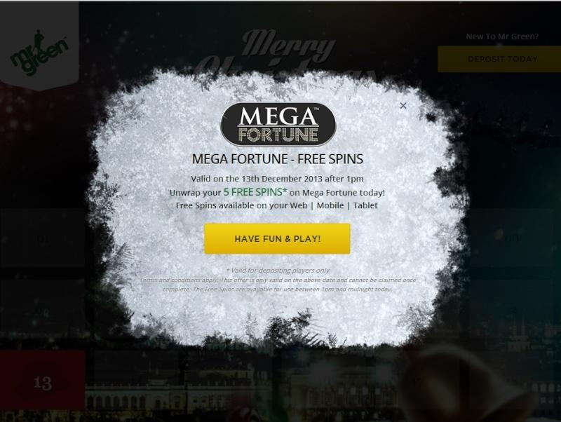 MrGreen Casino Christmas Calendar - 13th December 2013 Mrgree21