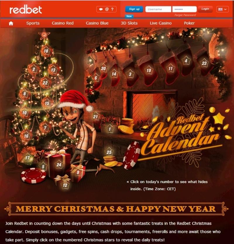 Redbet Casino Christmas Calendar 2013 Overview Redbet12