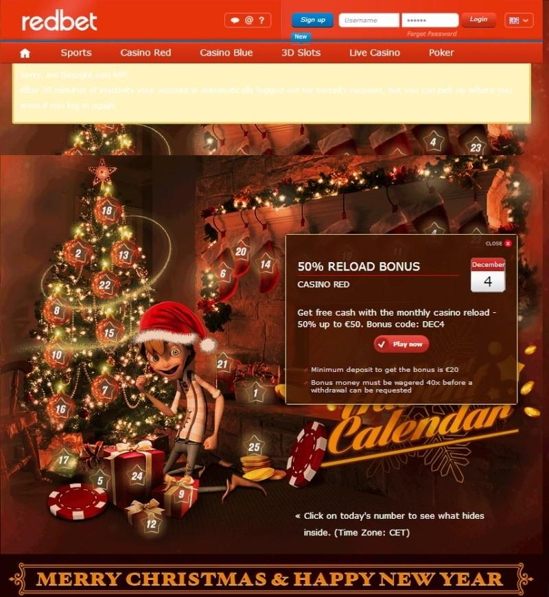 Redbet Casino Christmas Calendar - 4th December 2013 Redbet15