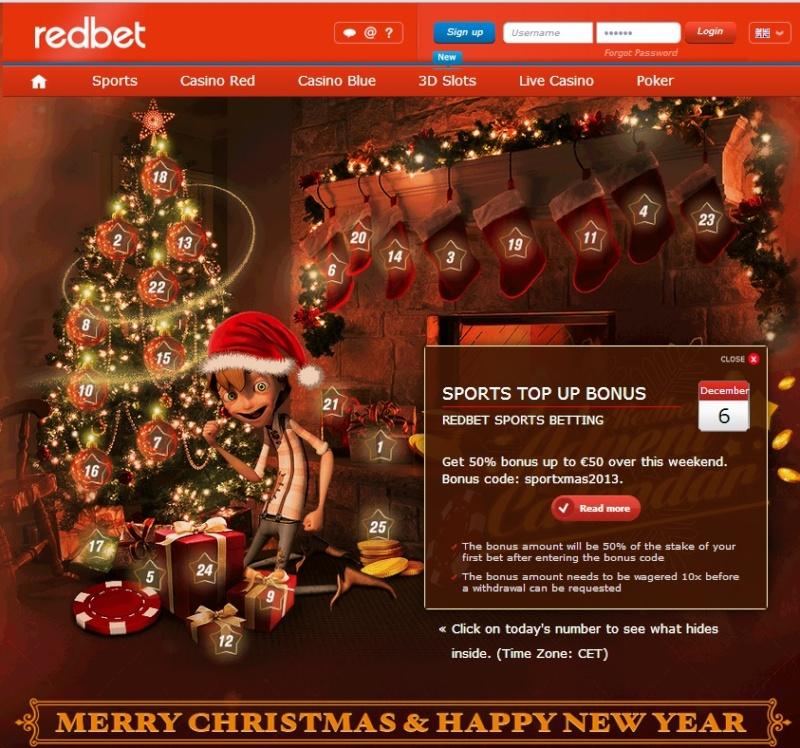 Redbet Casino Christmas Calendar - 6th December 2013 Redbet17