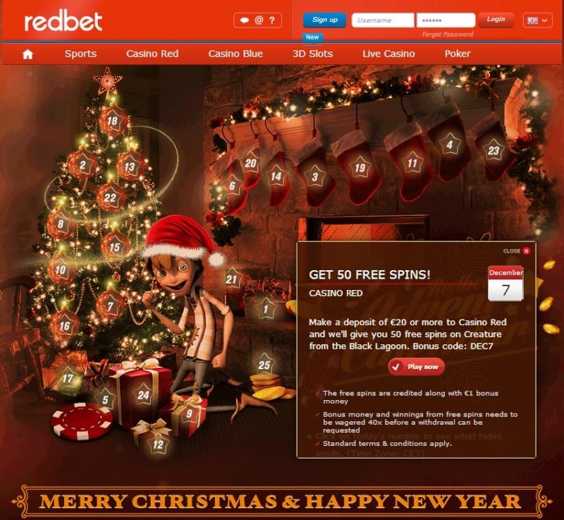 Redbet Casino Christmas Calendar - 7th December 2013 Redbet18