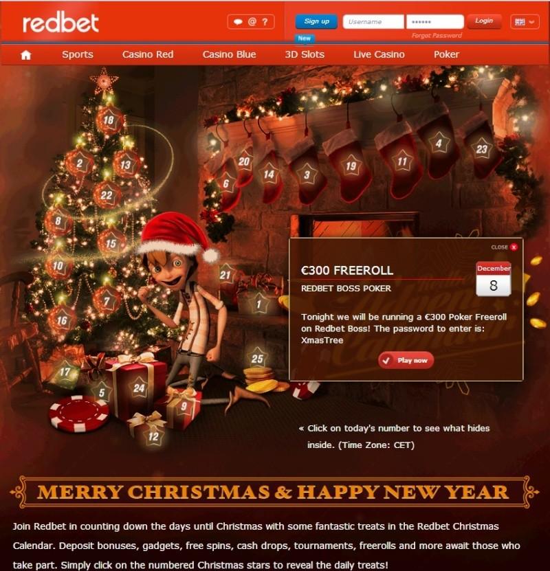 Redbet Casino Christmas Calendar - 8th December 2013 Redbet19