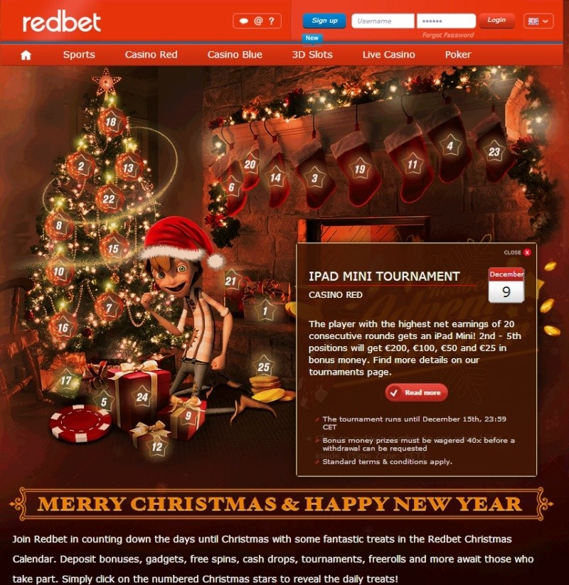 Redbet Casino Christmas Calendar - 9th December 2013 Redbet20