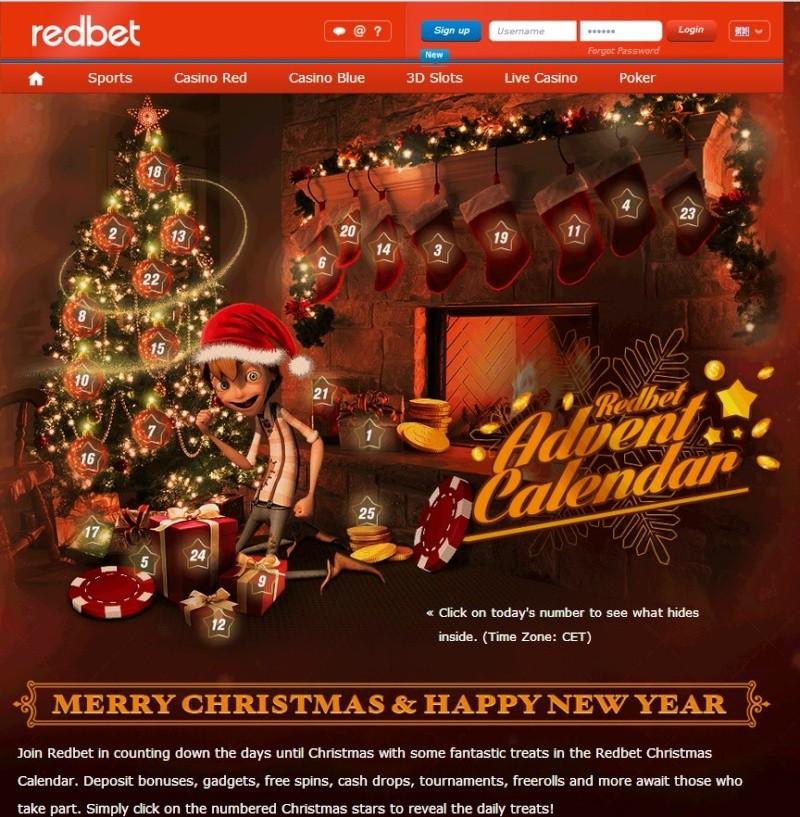 Redbet Casino Christmas Calendar - 10th December 2013 Redbet21