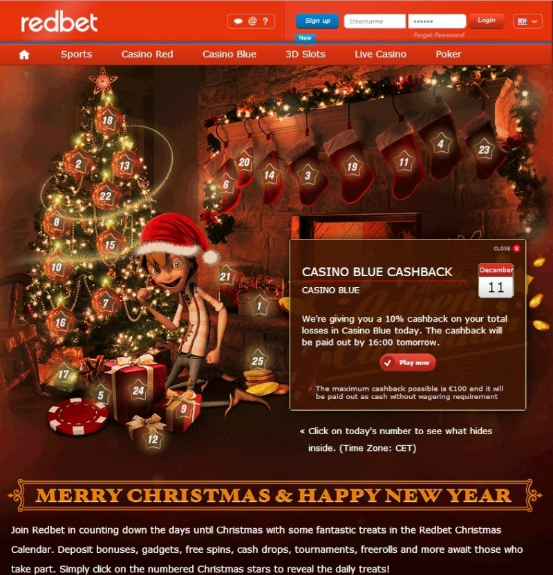 Redbet Casino Christmas Calendar - 11th December 2013 Redbet22
