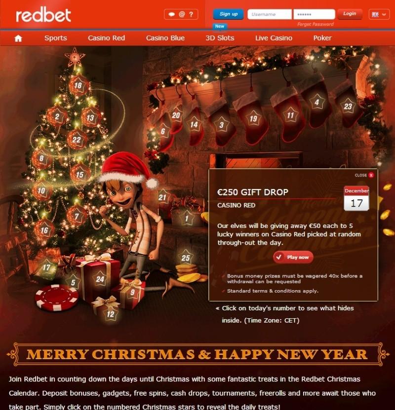 Redbet Casino Christmas Calendar - 17th December 2013 Redbet28