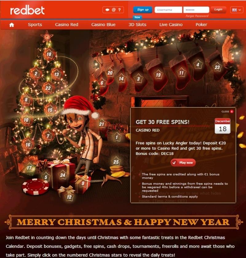 Redbet Casino Christmas Calendar - 18th December 2013 Redbet29