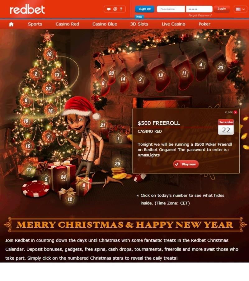Redbet Casino Christmas Calendar - 22nd December 2013 Redbet33