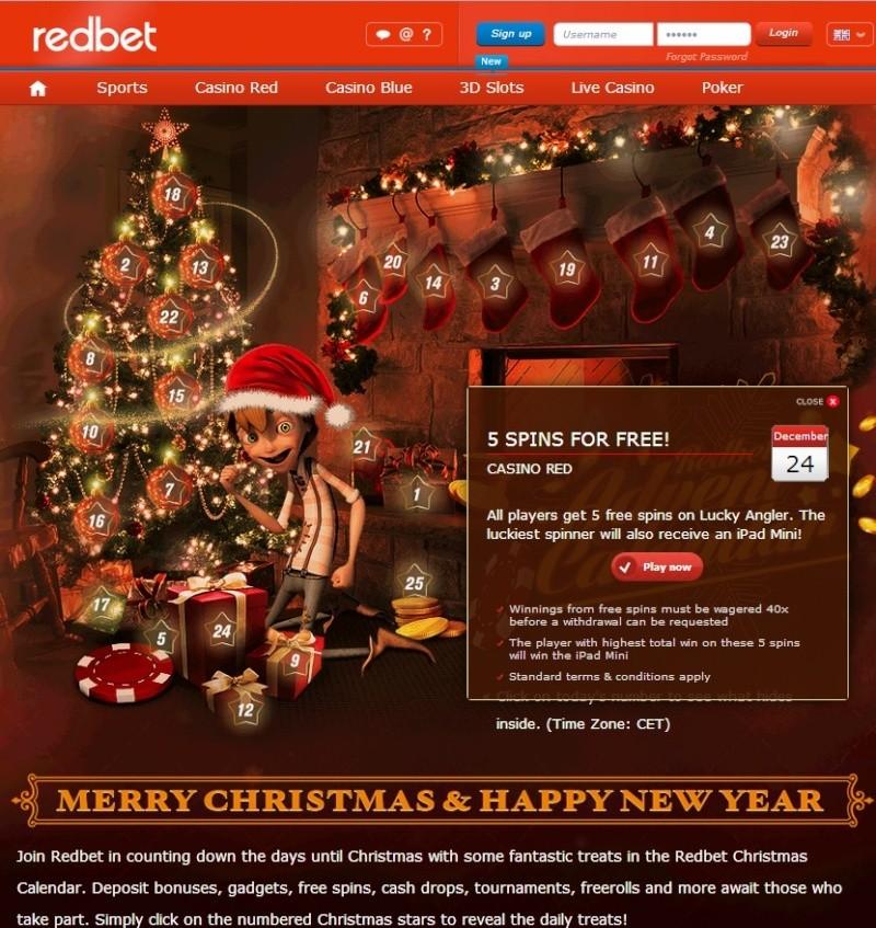 Redbet Casino Christmas Calendar - 24th December 2013 Redbet34
