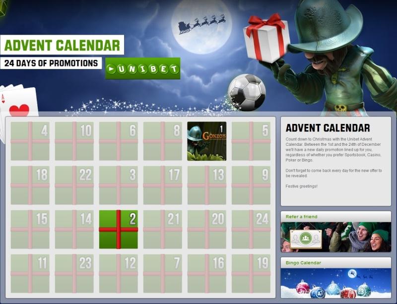 Unibet Casino Christmas Calendar 2013 Overview Unibet10