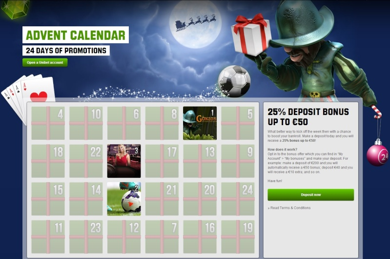 Unibet Casino Christmas Calendar - 2nd December 2013 Unibet11