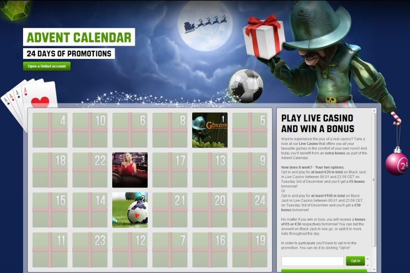 Unibet Casino Christmas Calendar - Tuesday 3rd December 2013 Unibet12