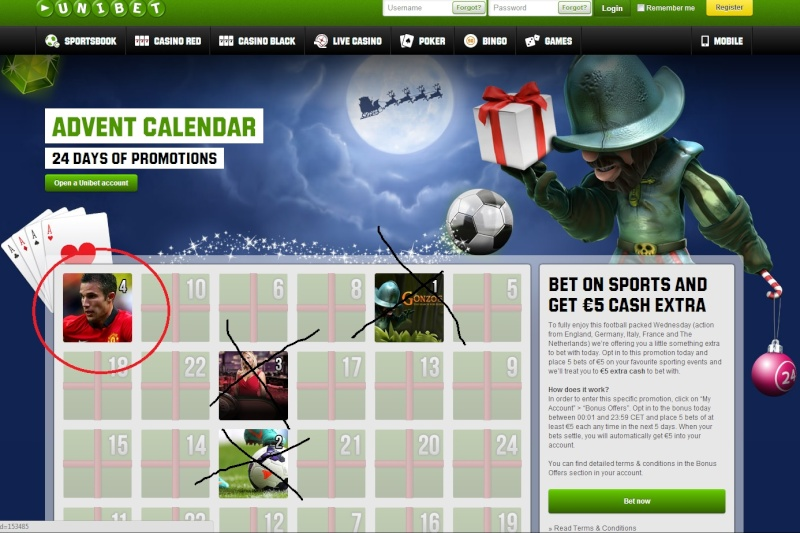Unibet Casino Christmas Calendar - 4th December 2013 Unibet13