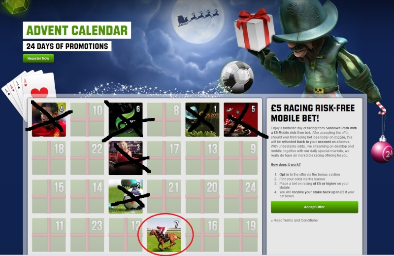 Unibet Casino Christmas Calendar - 7th December 2013 Unibet16