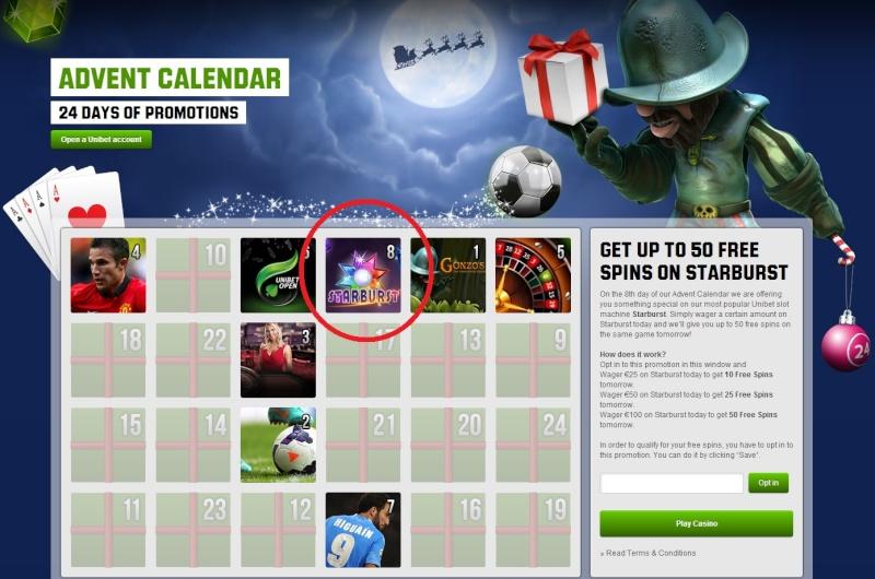 Unibet Casino Christmas Calendar - 8th December 2013 Unibet17