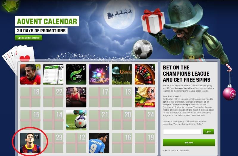 Unibet Casino Christmas Calendar - 11th December 2013 Unibet20