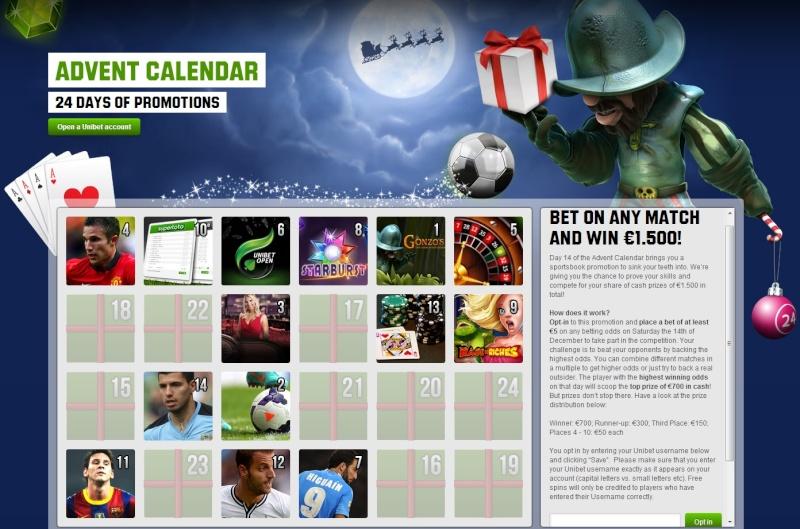 Unibet Casino Christmas Calendar - 14th December 2013 Unibet23