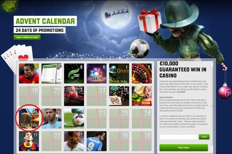 Unibet Casino Christmas Calendar - 15th December 2013 Unibet24