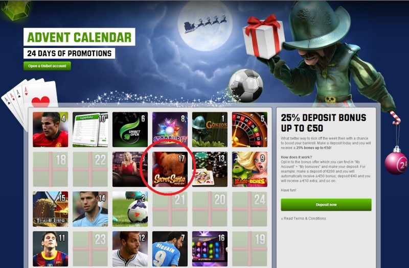 Unibet Casino Christmas Calendar - 17th December 2013 Unibet26