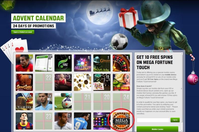 Unibet Casino Christmas Calendar - 19th December 2013 Unibet28