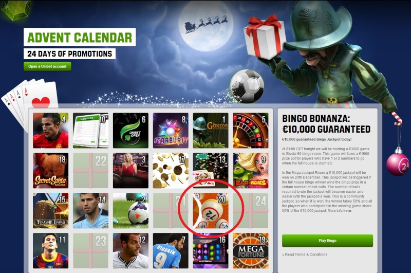 Unibet Casino Christmas Calendar - 20th December 2013 Unibet29