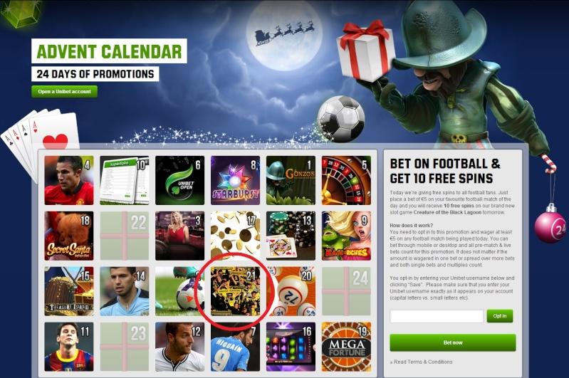 Unibet Casino Christmas Calendar - 21st December 2013 Unibet30