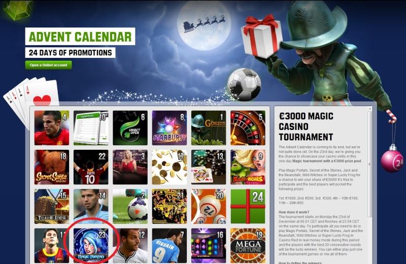 Unibet Casino Christmas Calendar - 23rd December 2013 Unibet32