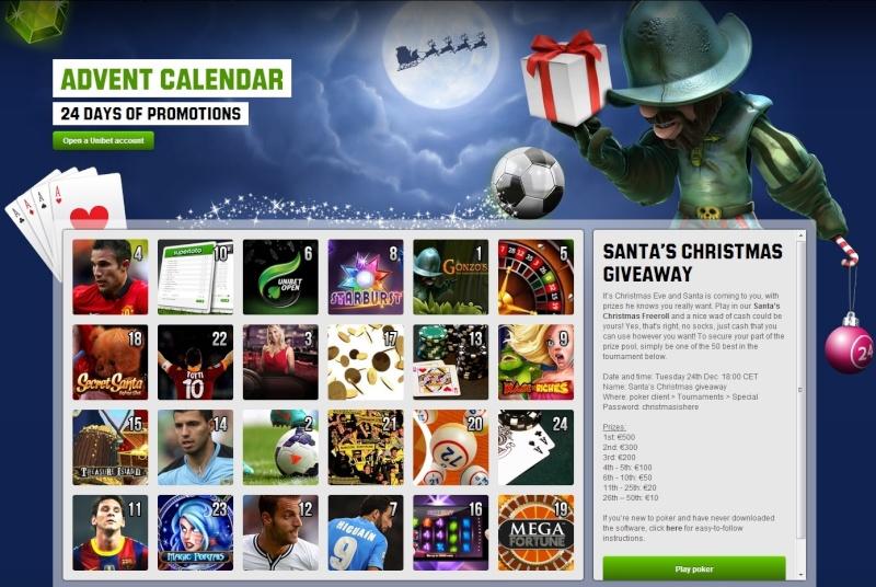 Unibet Casino Christmas Calendar - 24th December 2013 Unibet33