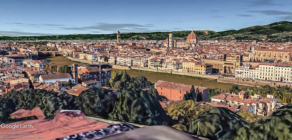 L'esplanade Michel-Ange (Piazzale Michelangelo) à Florence en Italie.  Point_10