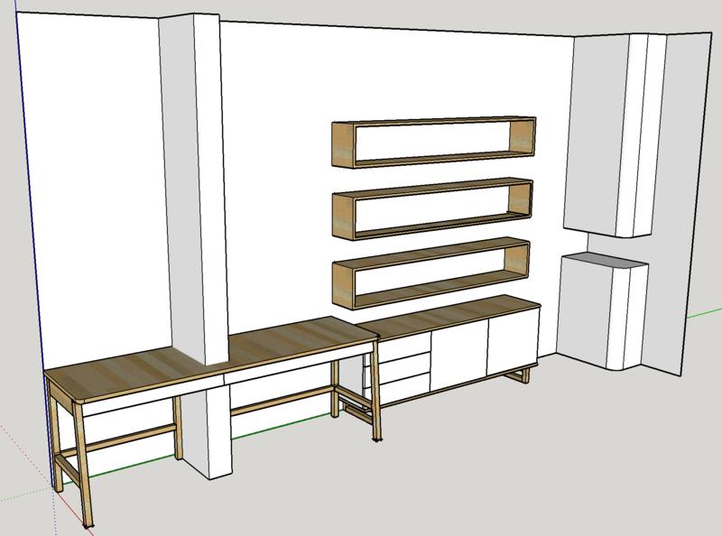 Ensemble bureau/meuble bas/bibliothèque Ensemb10