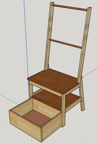 Chaise porte-serviette + tiroir - Page 2 Plan11
