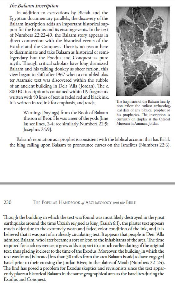 Evidence of Exodus Balaam10