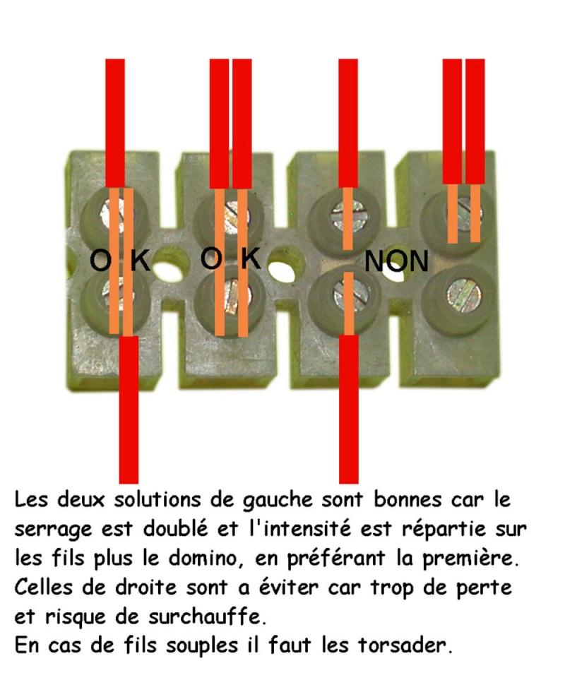Connexion électrique pompe piscine Domino10