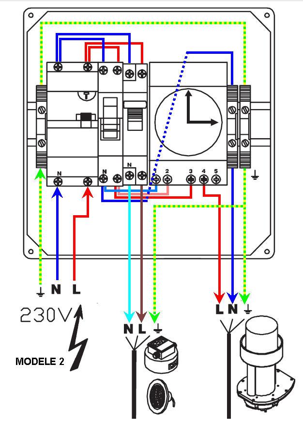 Connexion électrique pompe piscine Schema11