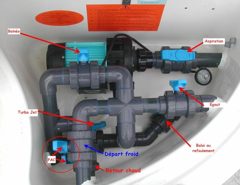 Raccordement pompe à chaleur sur escawat Vannes10