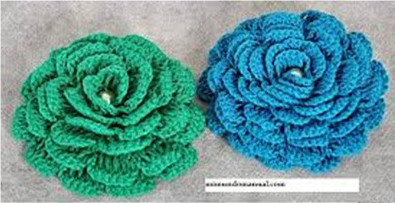 una rosa a crochet J8lc2o10