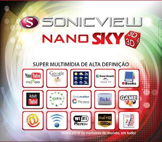 NANO - Nova atualização Sonicview Nano 3D Multimédia data 22/03/2014. Sonicv10