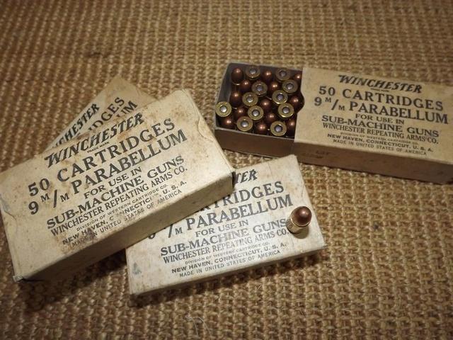 caisse de munitions Winchester WW2 9mm110