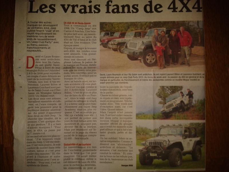 Revue de presse : le Dauphiné  2013-112