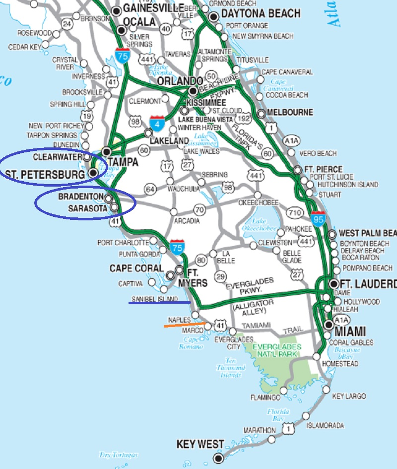 Un rêve se profile à l'horizon 2019 :  Floride et WDW !  Cflmap10